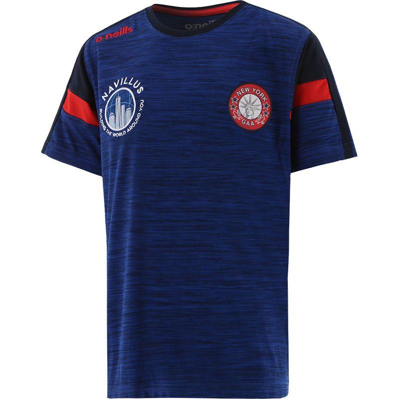 New York GAA Kids' Portland T-Shirt Blue / Marine / Red
