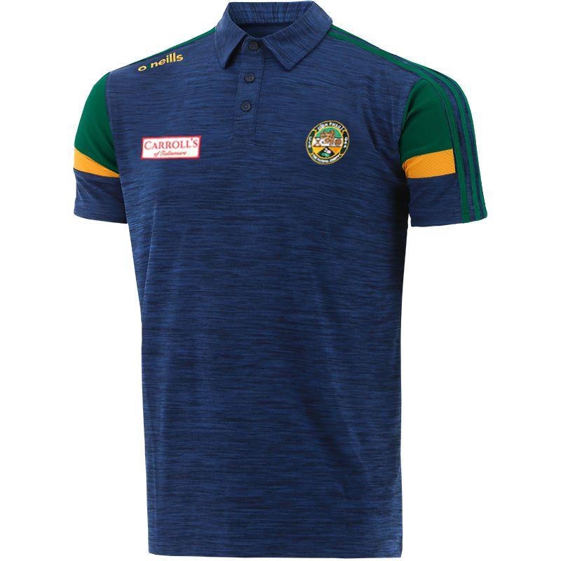 Offaly GAA Men's Portland Polo Shirt Marine / Bottle / Amber