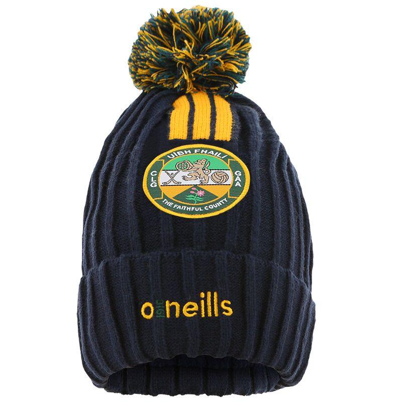 Offaly GAA Kids' Portland Bobble Hat Marine / Bottle / Amber