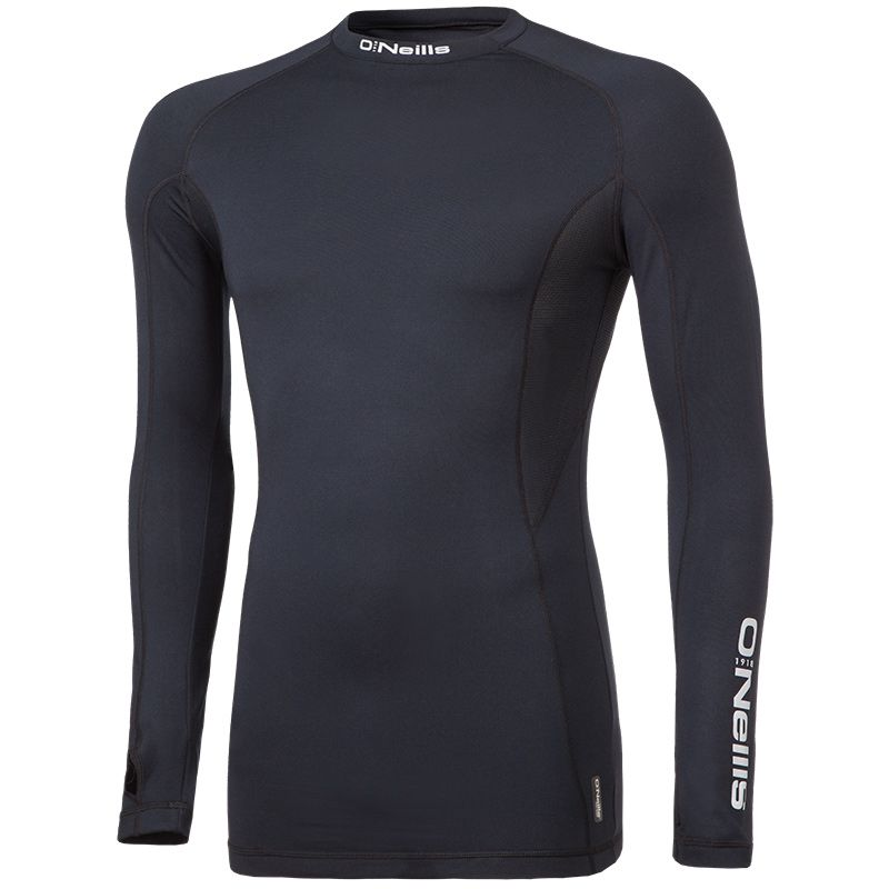 Kids' Pro Body Baselayer Long Sleeve Top Black / Reflective Silver