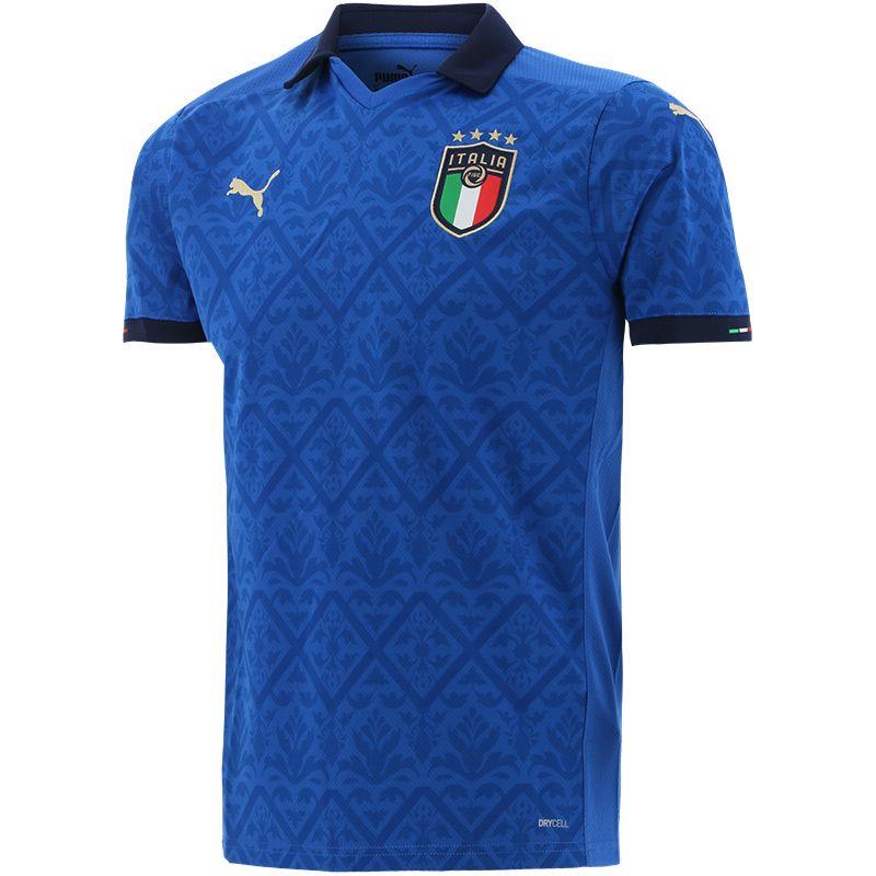 Puma FIGC Italy Home Replica Jersey Power Blue