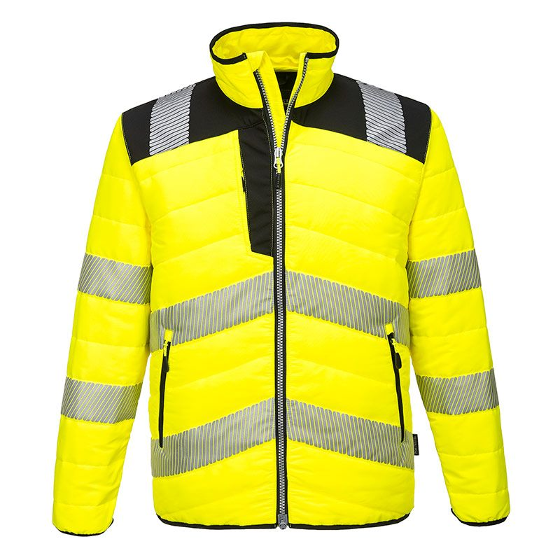Portwest Men's PW3 Hi-Vis Baffle Jacket Yellow / Black