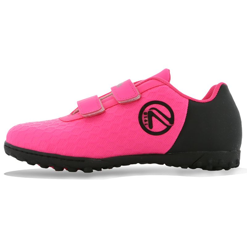 Python Astro Turf Velcro Football Boots Pre-School Flo Pink / Black