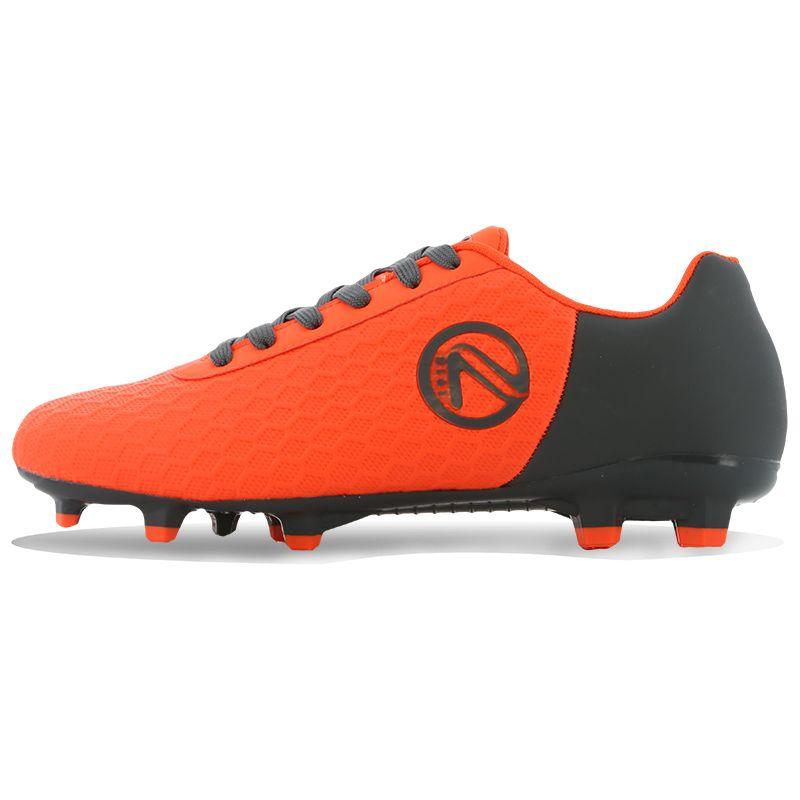 Python Firm Ground Laced Football Boots Junior Flo Orange / Gunmetal