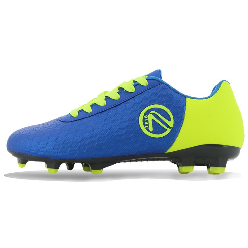 Python Firm Ground Laced Football Boots Junior Royal / Flo Yellow
