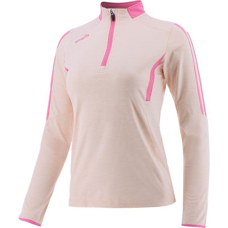 Women's Raven Brushed Half Zip Beige / Pink