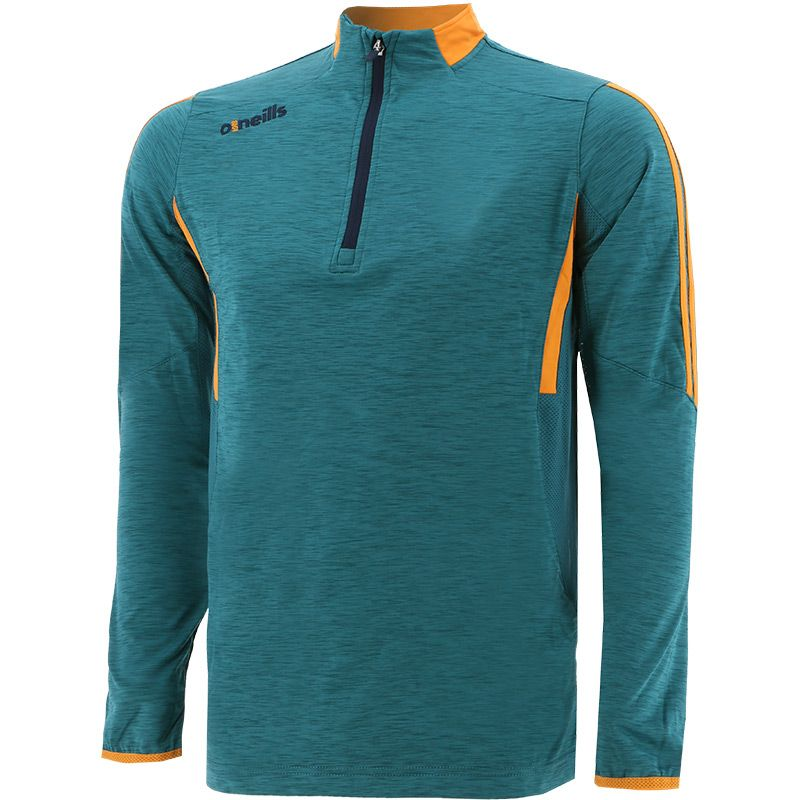 Men's Raven Brushed Half Zip Green / Orange / Marine