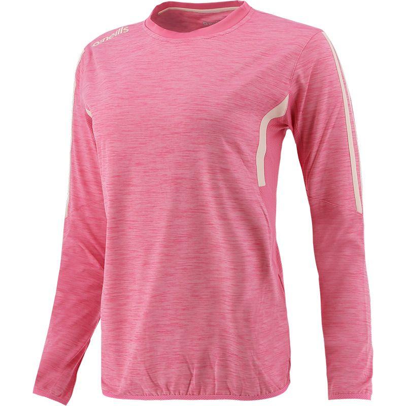 Women's Raven Brushed Crew Neck Top Pink / Beige