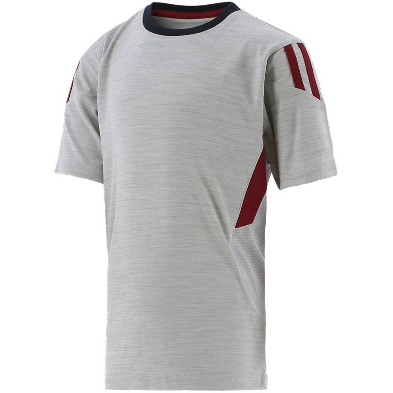 Kids' Raven 2 Stripe T-Shirt Silver / Maroon / Marine