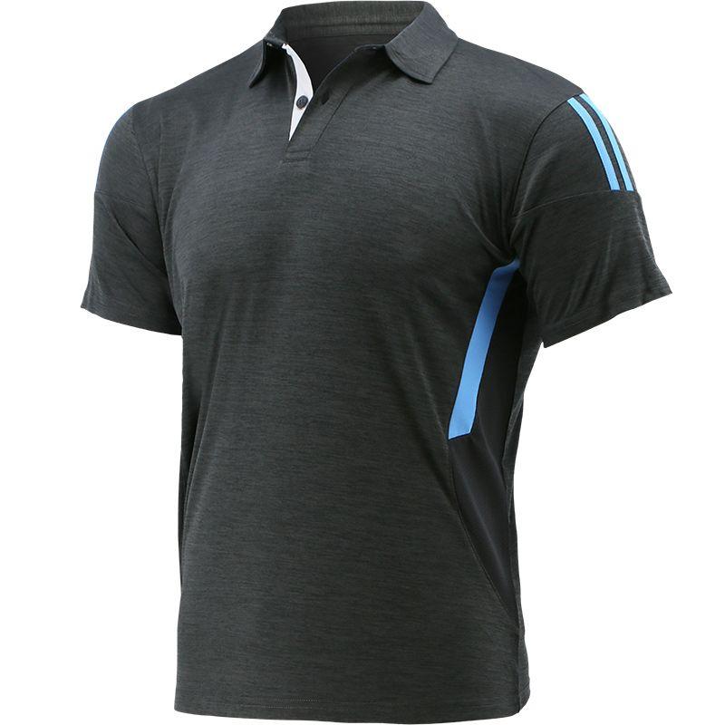 Men's Raven Polo Shirt Dark Grey / Blue / Silver