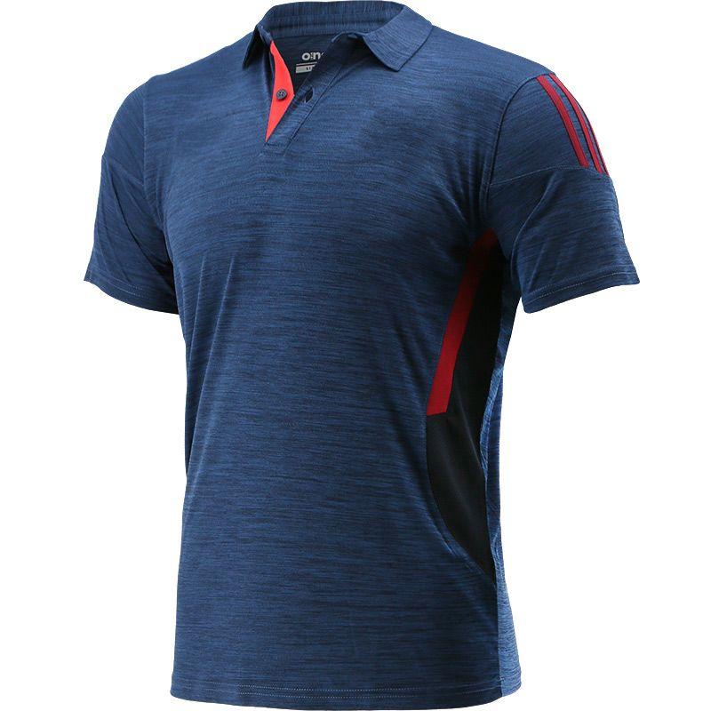 Men's Raven Polo Shirt Marine / Maroon / Red