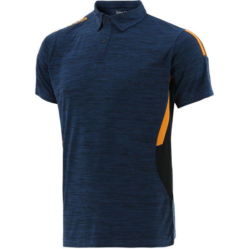 Men's Raven Polo Shirt Marine / Orange / Green