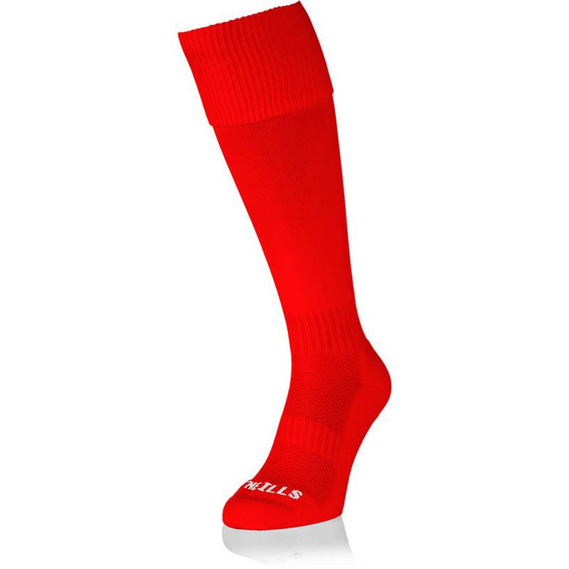 Kids' Premium Socks Plain Red