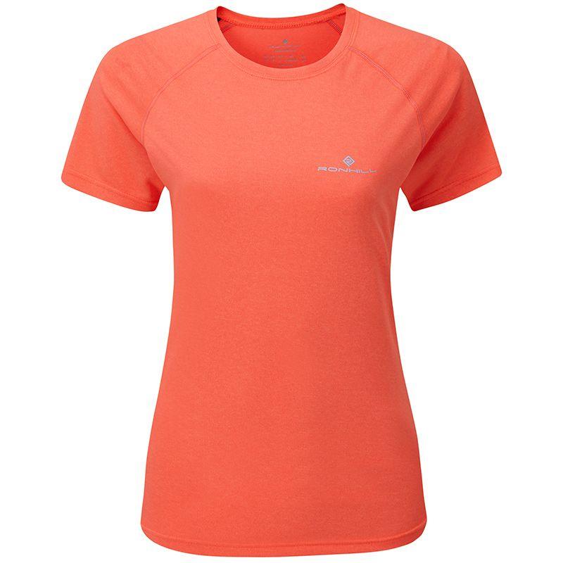 Women's Ronhill Core Short Sleeve T-Shirt Hot Pink Marl