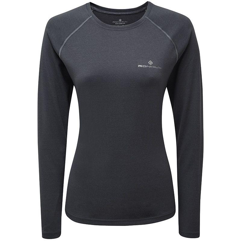 Women's Ronhill Core Long Sleeve T-Shirt Charcoal Marl