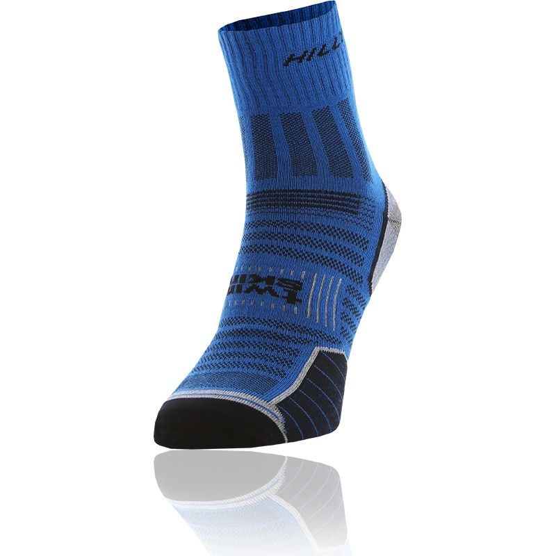 blue and grey Ronhill anti-blister double layer sock from O'Neills