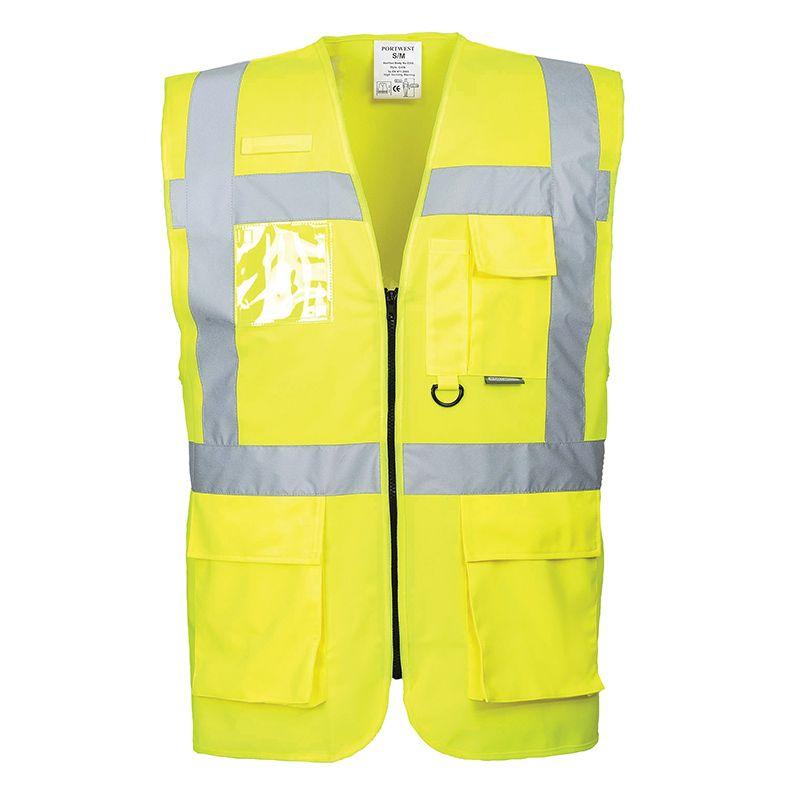 Portwest Men's Berlin Executive Vest Yellow