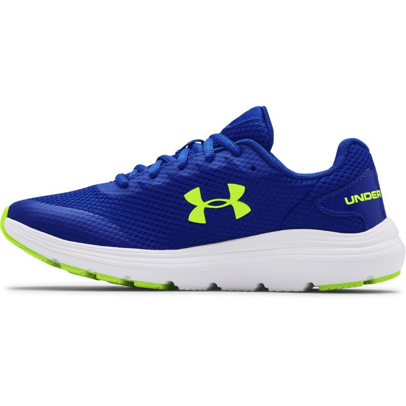 royal, white and yellow Under Armour running shoes with enhanced cushioning from O'Neills