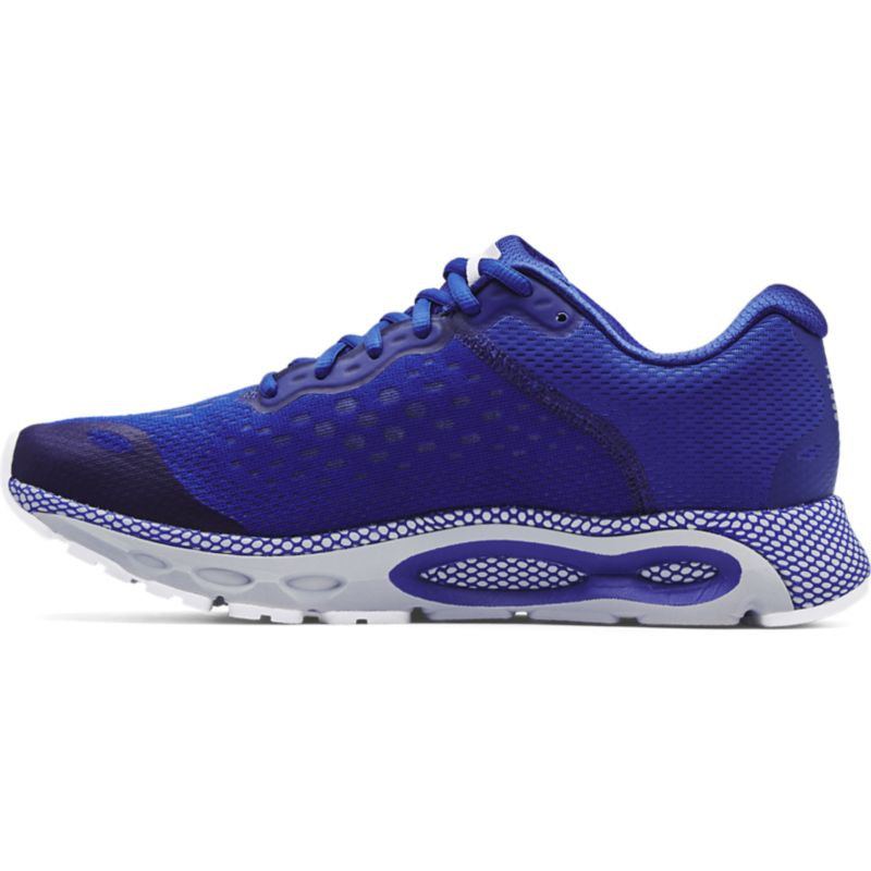 blue and grey Under Armour running shoes, with a balance of flexibility & cushioning from O'Neills