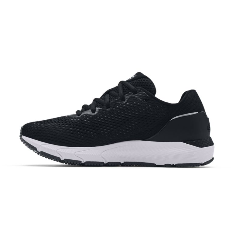 black and white Under Armour women's laced running shoes, lightweight and breathable from O'Neills