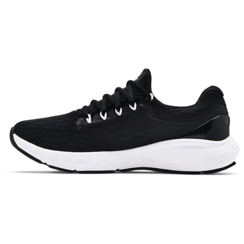 black and white Under Armour women's shoes with shock absorbing cushioning from O'Neills