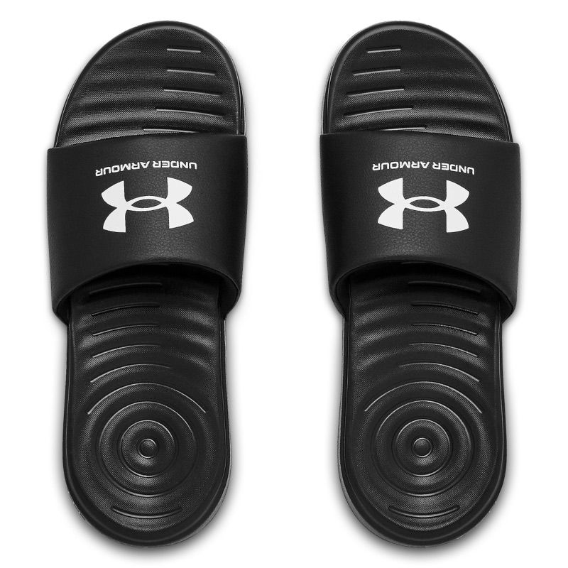 black Under Armour men's siders with a fixed strap with added foam from O'Neills