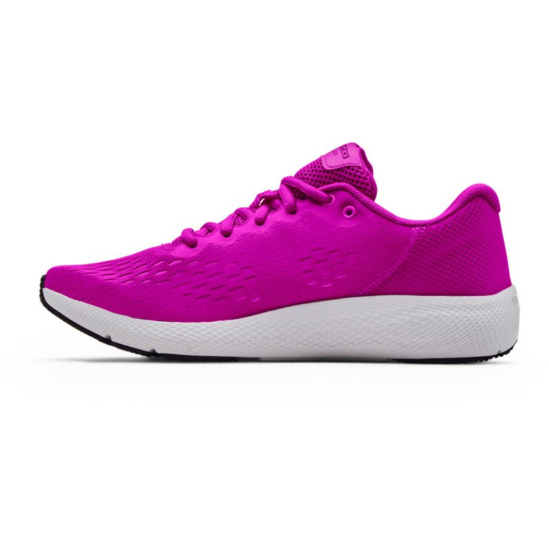 pink and white, light and flexible, Under Armour women's running shoes from O'Neills