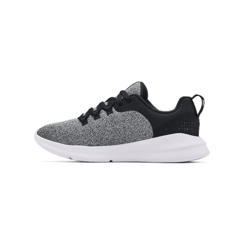 black, grey and white Under Armour women's runners with an EVA midsole and solid rubber outsole from O'Neills