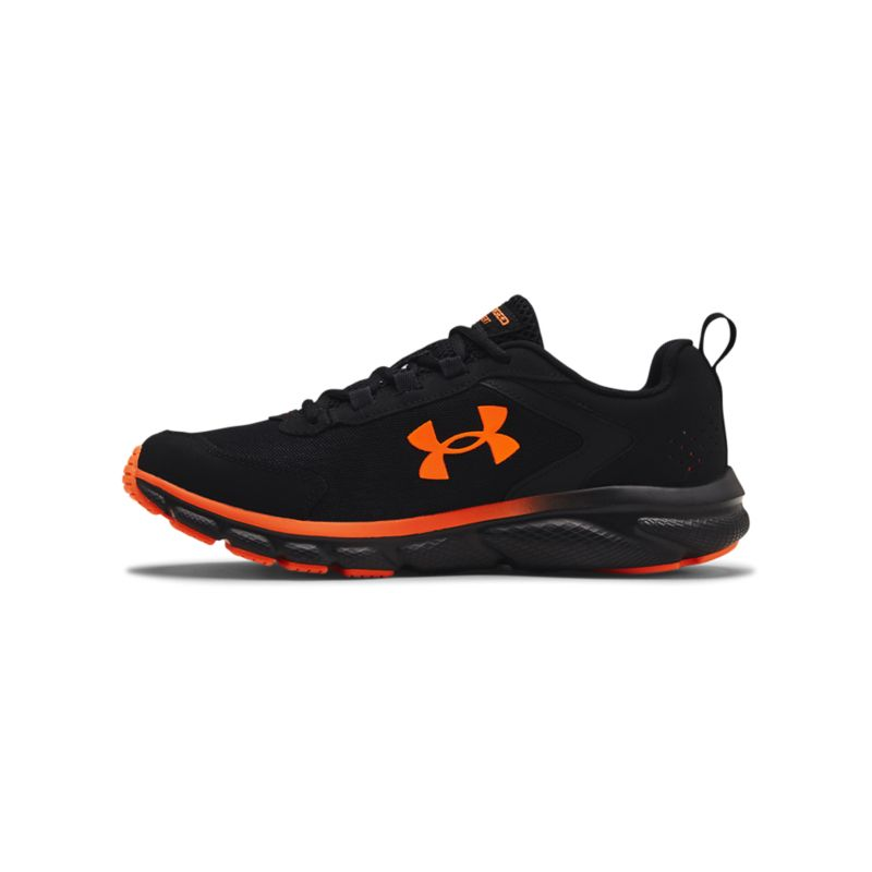 black and orange Under Armour men's runners with a lightweight, mesh upper and a solid rubber outsole from O'Neills