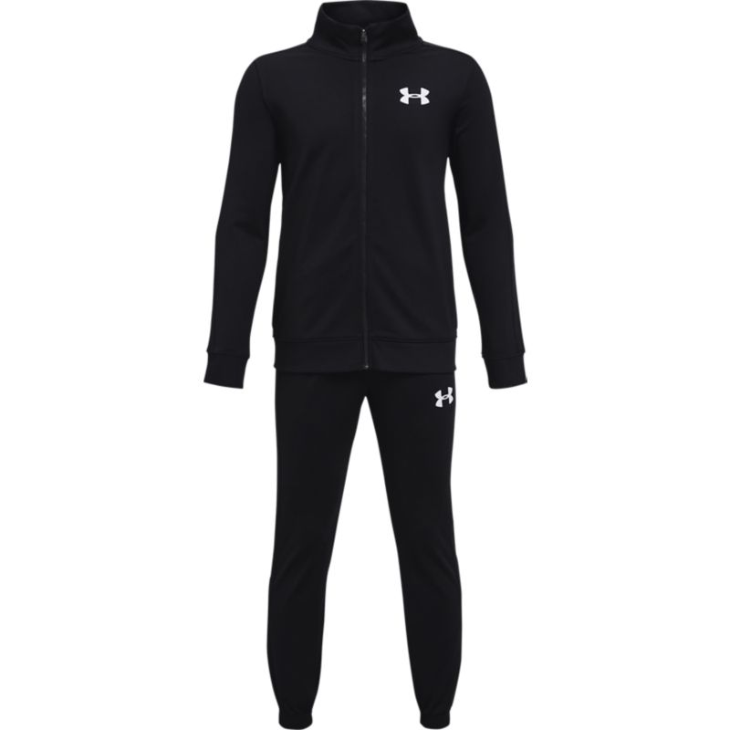 Black Under Armour kids' boys tracksuit with bottoms and full zip jacket from O'Neills.