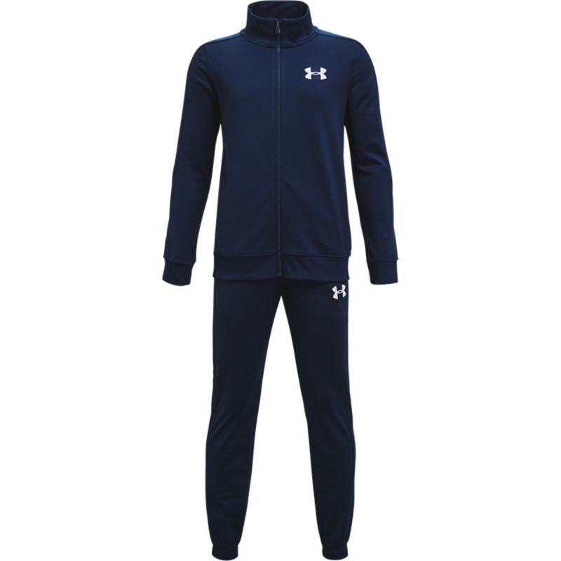 Navy Under Armour kids' boys tracksuit with bottoms and full zip jacket from O'Neills.