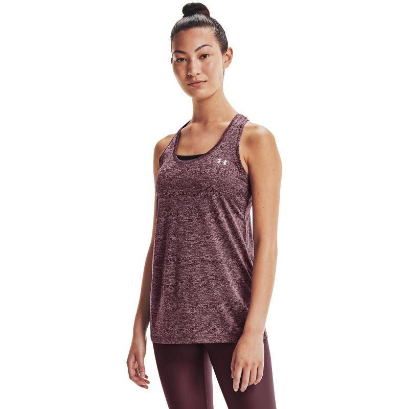 Purple Under Armour women's gym vest with UA logo from O'Neills.