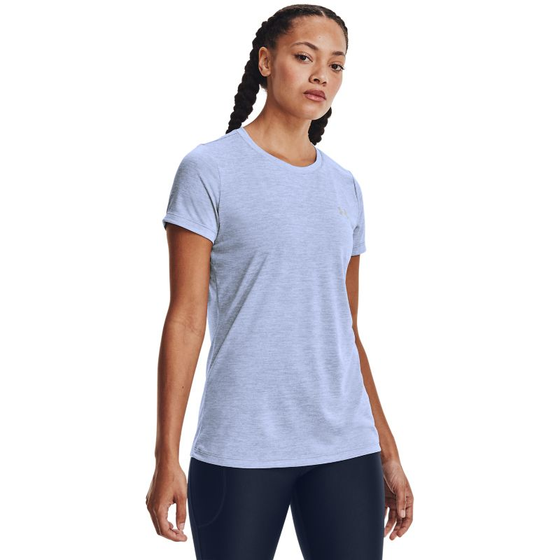 Under Armour Women's Tech™ Twist T-Shirt Washed Blue / Metallic Silver