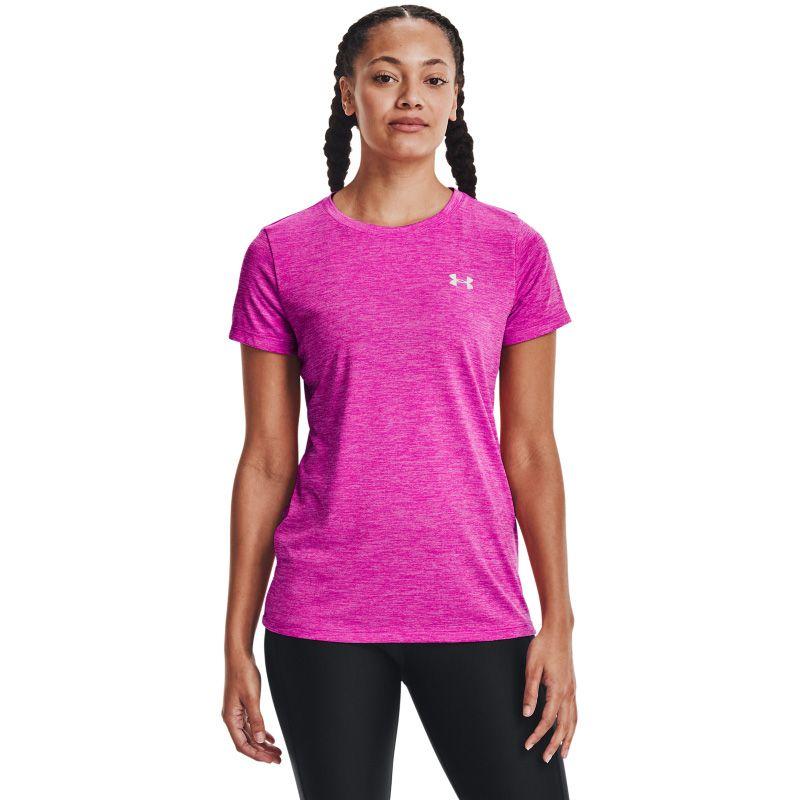 Under Armour Women's Tech™ Twist T-Shirt Meteor Pink / Planet Pink / Metallic Silver
