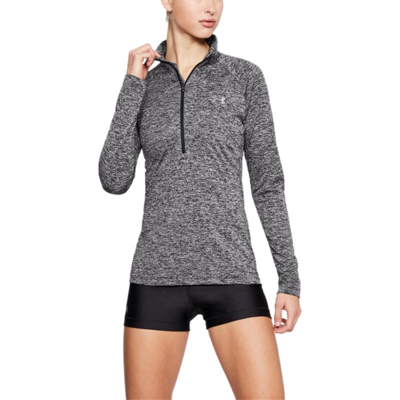 Under Armour Women's UA Tech™ Half Zip Twist Black / Metallic Silver