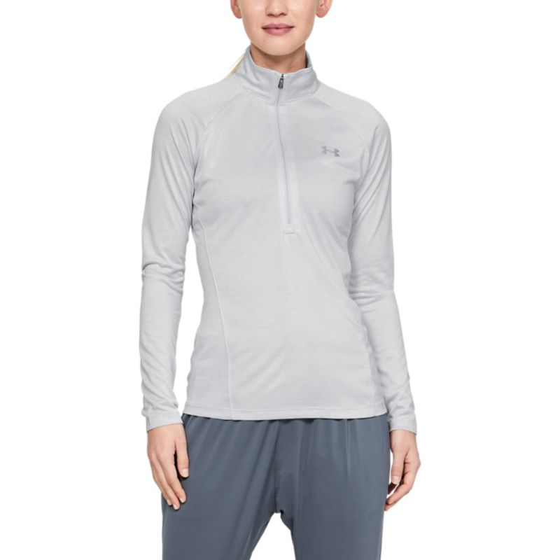 Under Armour Women's UA Tech™ Half Zip Twist Halo Grey / Metallic Silver