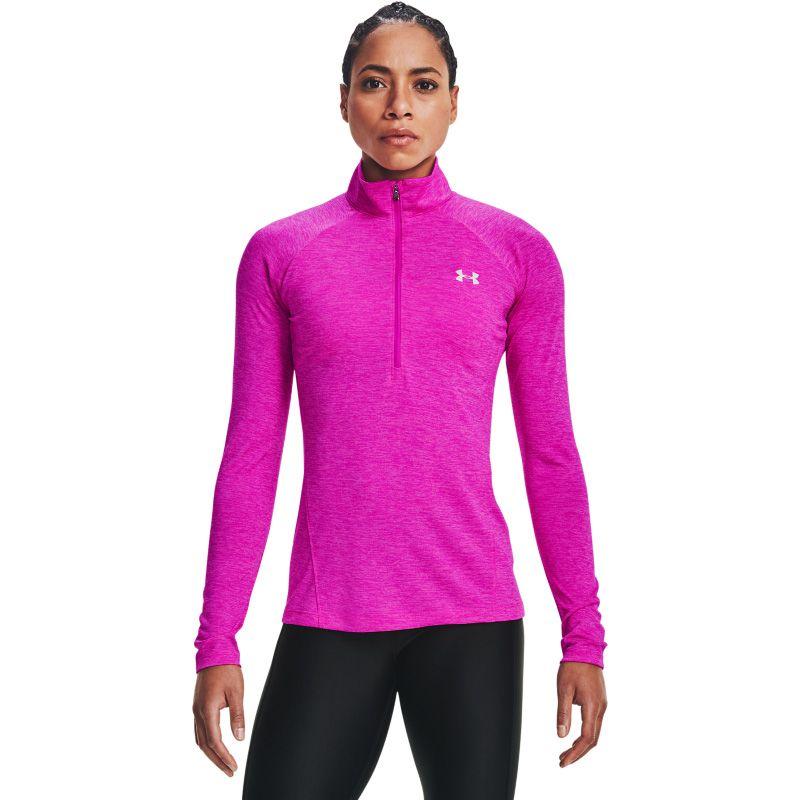 Under Armour Women's UA Tech™ Half Zip Twist Meteor Pink / Planet Pink / Metallic Silver