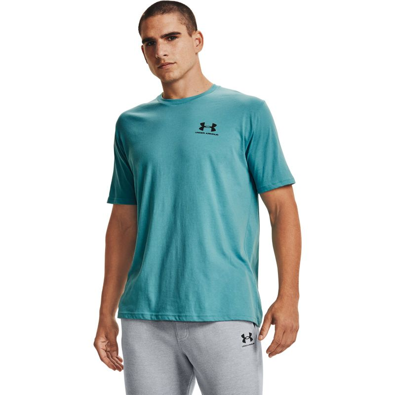 Blue Men's Under Armour casual t-shirt with logo from O'Neills.