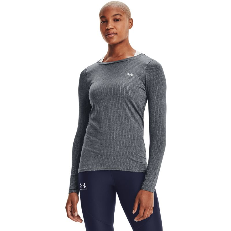 Grey Under Armour women's long sleeve running top with mesh from O'Neills.