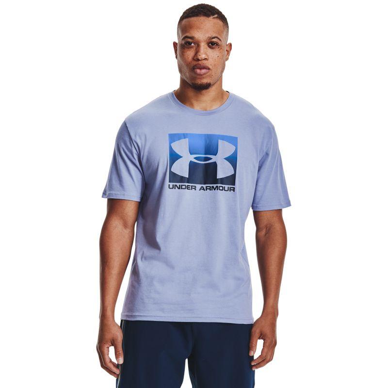 Blue Under Armour men's t-shirt with UA logo print from O'Neills.