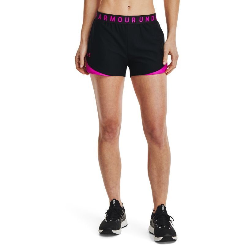 Under Armour Women's UA Play Up Shorts 3.0 Black / Meteor Pink