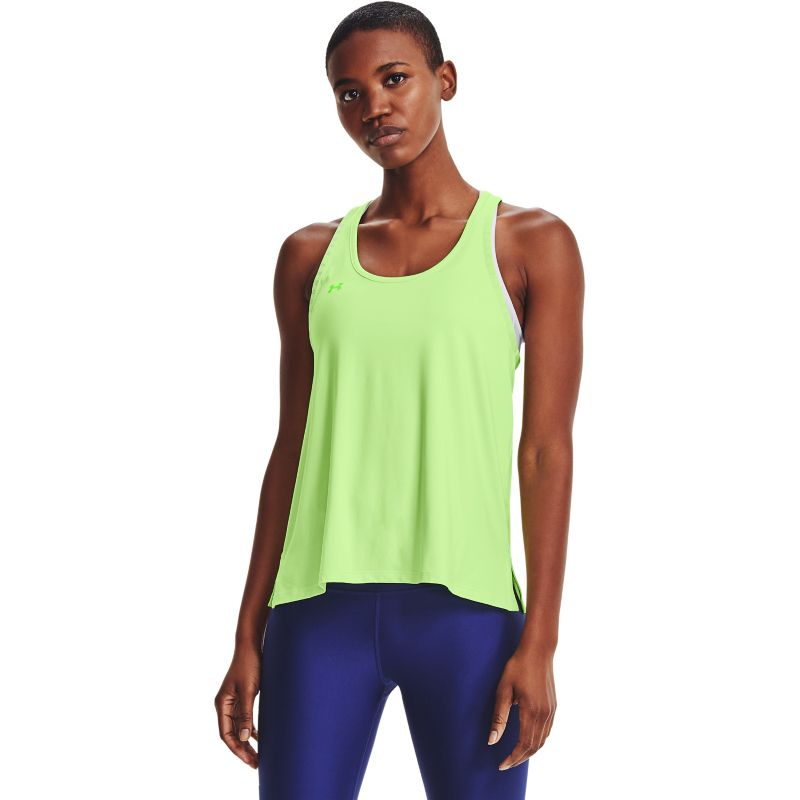 Green Under Armour women's gym tank top vest with t-back form O'Neills.