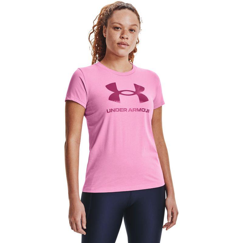 Under Armour Women's UA Sportstyle Graphic T-Shirt Planet Pink / Pink Quartz