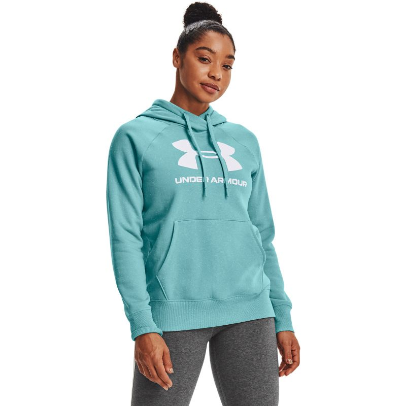 Blue Under Armour women's loungewear hoodie with front pocket from O'Neills.