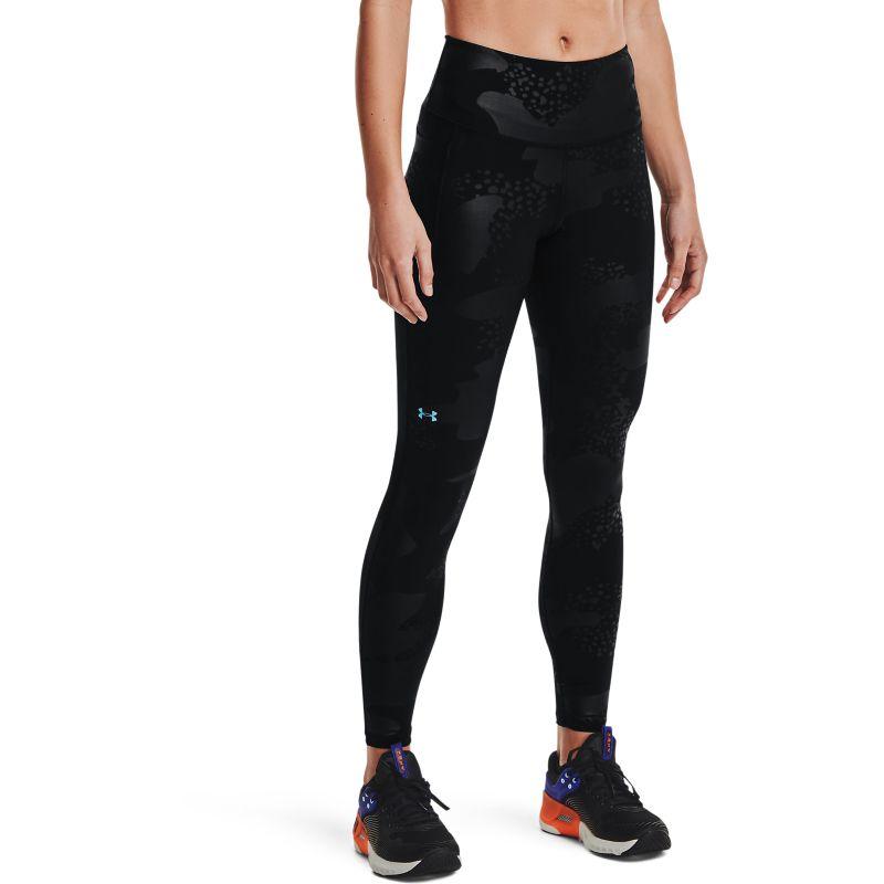 Black Under Armour women's full length leggings with non-slip waistband from O'Neills.