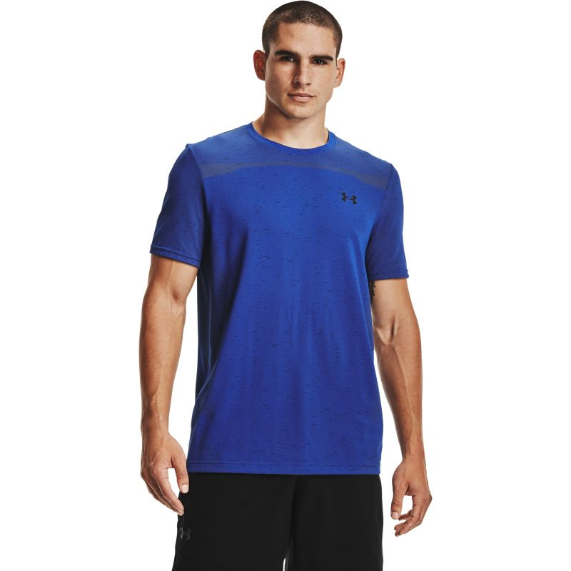 Royal Under Armour men's seamless gym t-shirt with short sleeves from O'Neills.