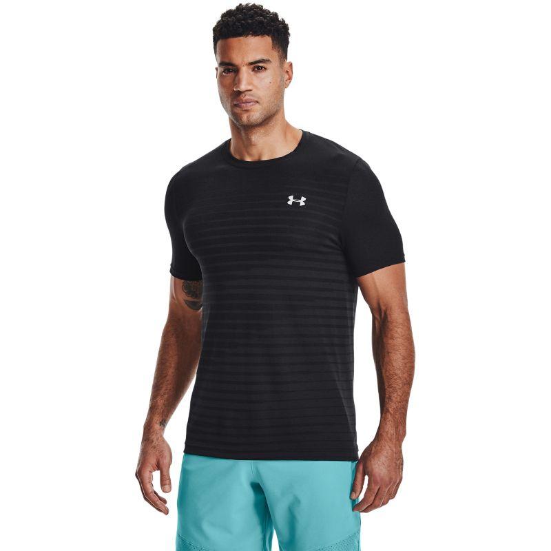 Under Armour Men's UA Seamless Fade T-Shirt Black / Mod Grey