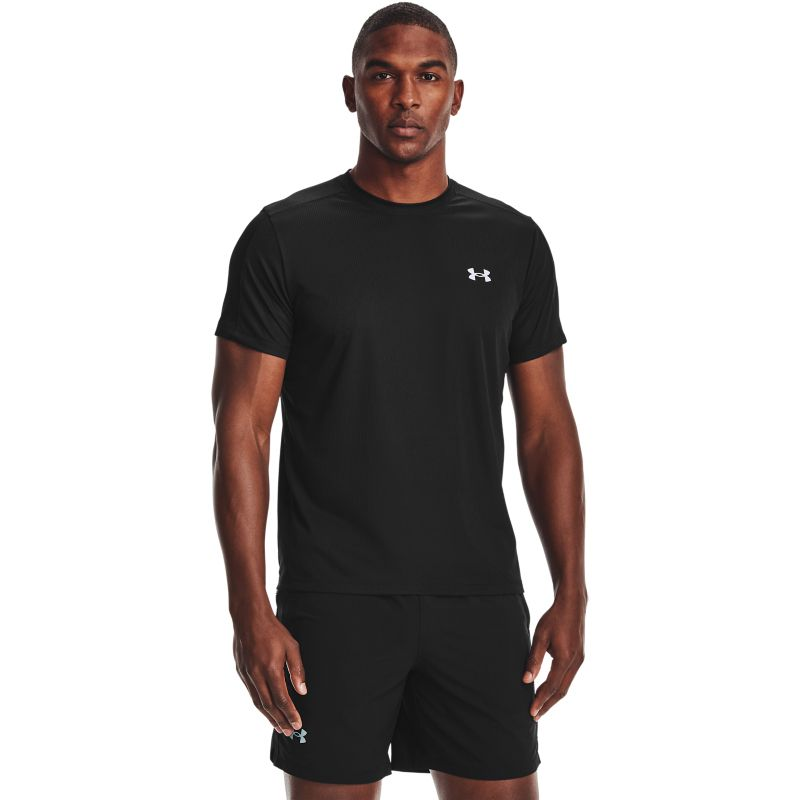 Black Under Armour men's short sleeve t-shirt with reflective detail from O'Neills.
