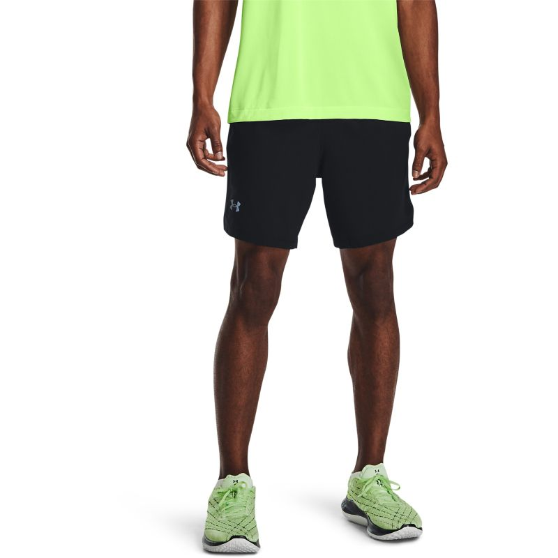 Black Under Armour men's 2 in 1 running shorts from O'Neills.