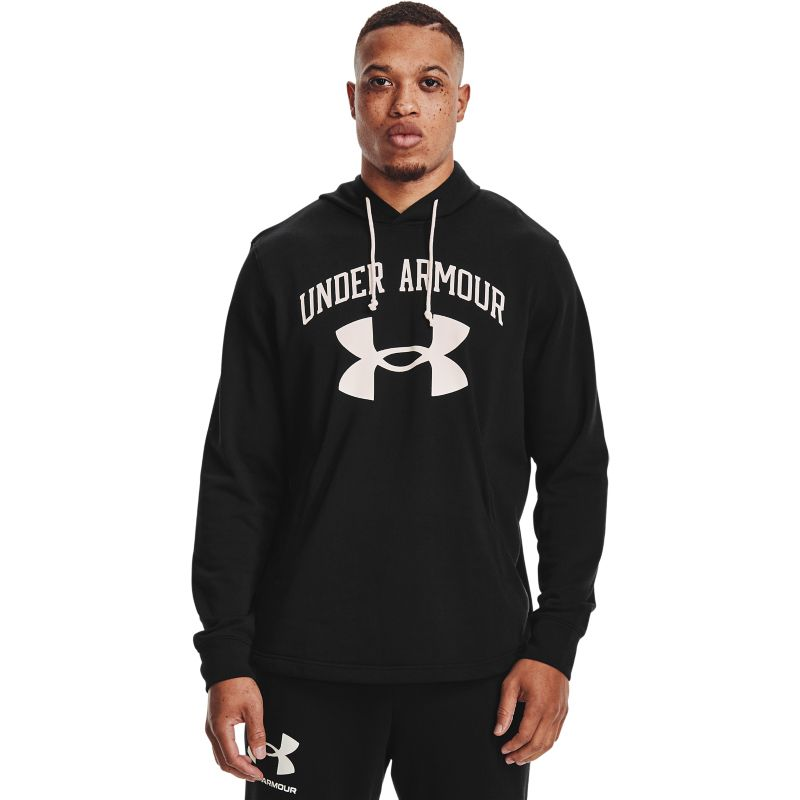 Black Under Amour men's loungewear hoodie with pockets from O'Neills.